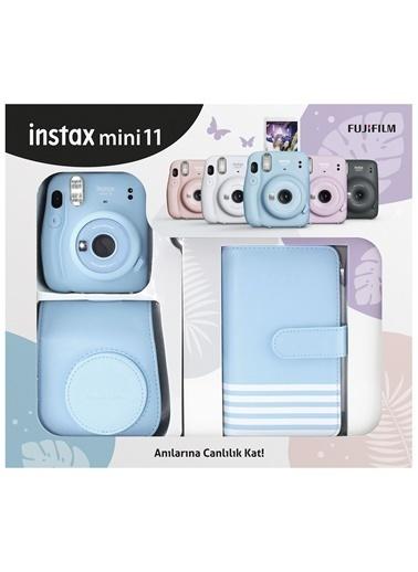 Fujifilm İnstax Mini 11 Laporta Albümlü Mavi Kit Mavi